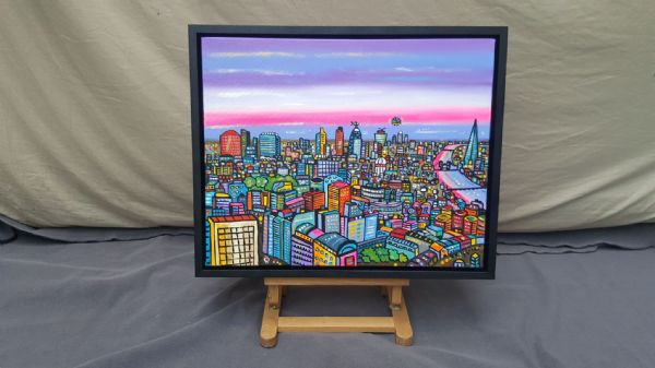 Illusionary London,  original with gallery frame